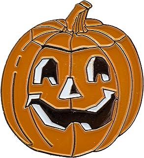 Halloween pompoen spukgezicht metaal button pin connector 0769