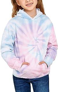 Sponsored Ad - Mcloyoe Girls Cute Tie-Dye Hoodies Long Sleeve Fashion Sweatshirts Pullover Tops