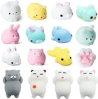 Beelittle Animal Squishies Slow Rising Squishies Mini Cute Cat Rabbit Pig Paw Bird Deer Shark Fidget Toy Stress Reliever Kids Toy Gift 16 PCS …
