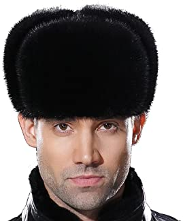 b93c88635e10a URSFUR Russian Fur Ushanka Hat Mens Winter Real Min Fur Trapper Cap