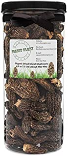 """Forest Glory """"The Dream"""" Organic Dried Morel Mushrooms, Wild and Hand Picked, 80-Ounce Jar, 4 Pounds"""