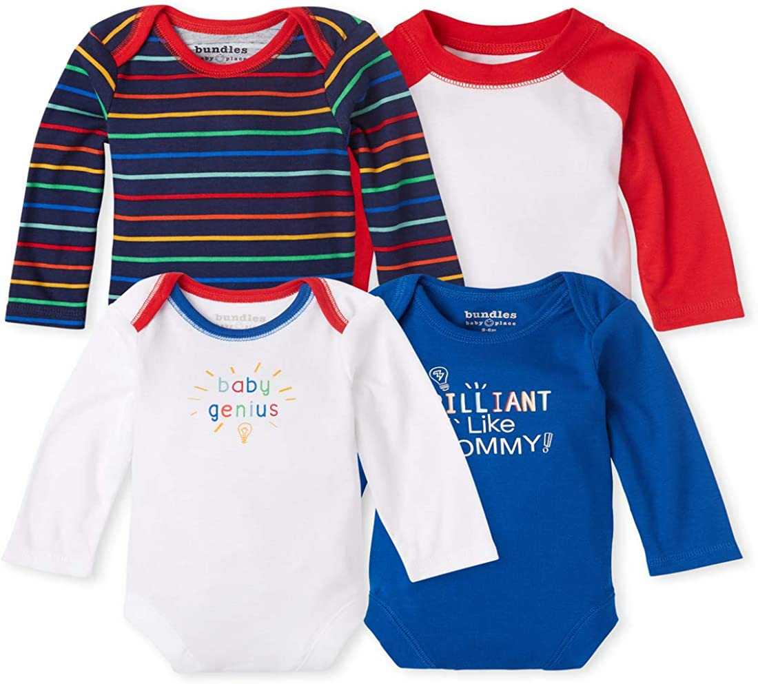 The Children's Place baby-boys Over Super beauty product restock quality top! item handling Bodysuit 4-pack Genius