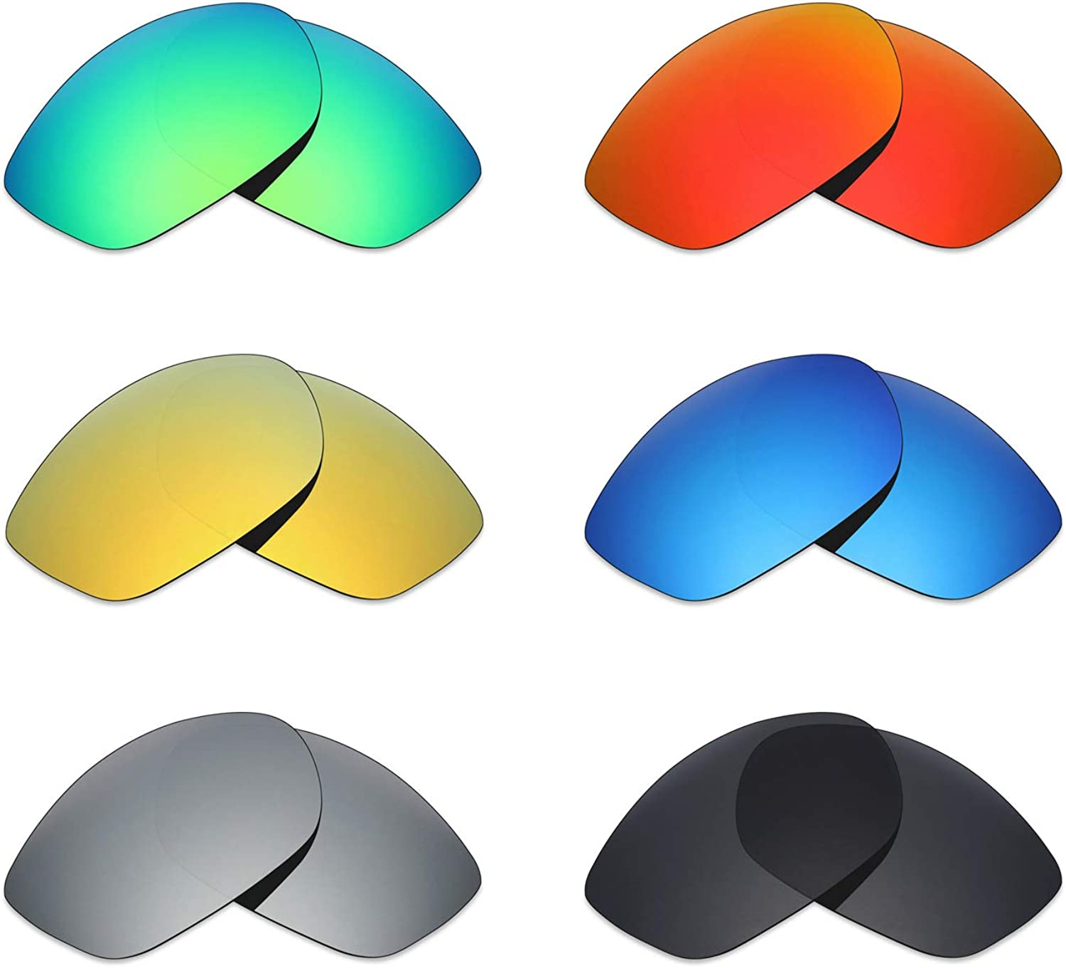 Mryok 6 Pair Polarized Replacement Lenses Del Max 79% OFF for Max 59% OFF Mar Fisc Costa
