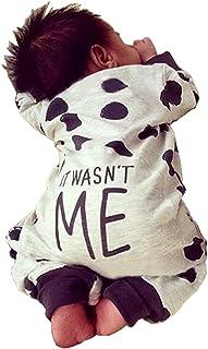 Fiomva Newborn Baby Boy Girl Warm Long Sleeve Romper Outfits Jumpsuit  Bodysuit Clothes … 128cc5f6e