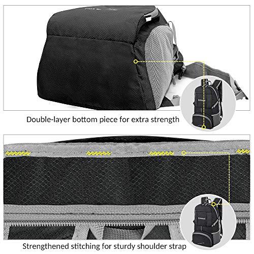 ZOMAKE折りたたみリュック軽量防水コンパクトアウトドア旅行便利グッズバックパック35L