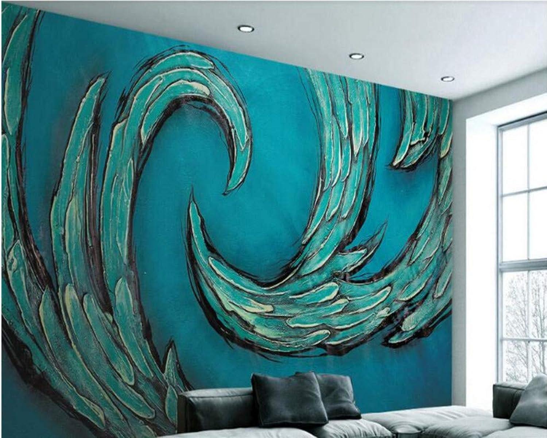 Mbwlkj Papel pintado Para Parojoes 3D Azul Patrón Abstracto Estilo Americano Moda Vintage Tv Fondo De Pantalla Para Habitación De Niños-200cmx140cm