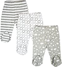 Spasilk Baby Boys 3 Pack Cotton Footed Pants