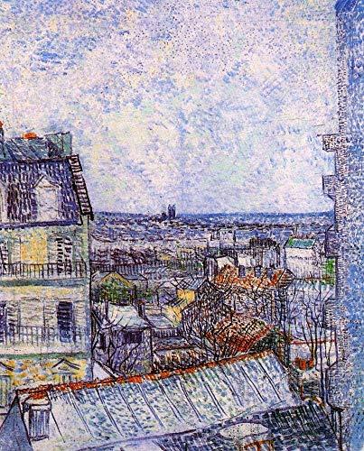 P Van Gogh   Vista de París desde la habitación de Vincent s en la rue Lepic   Rompecabezas de madera de 300/500/1000 piezas para adultos P (tamaño : 1000 piezas)