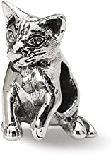 Beautiful Sterling silver 925 sterling Sterling Silver Reflections Abyssinian Cat Bead