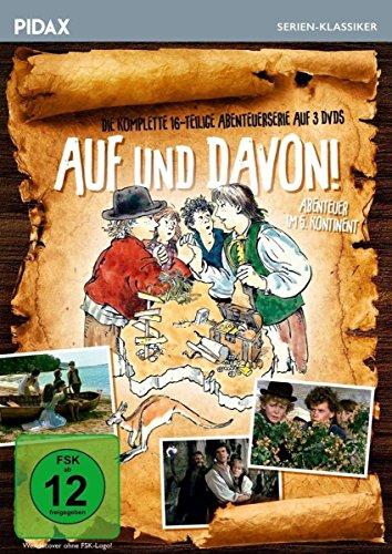 Auf und davon! - Abenteuer im 5. Kontinent / Die komplette 16-teilige Abenteuerserie (Pidax Serien-Klassiker) [3 DVDs]