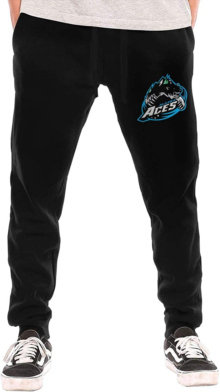 Thorea Men's Casual 2015hockeyAlaskaAcesLogo Active Jogger Sweatpants