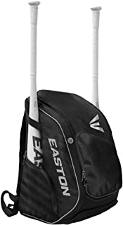 EASTON ELITE X Bat & Equipment Backpack Bag | Baseball Softball | 2019 | 2 Bat Sleeves | Vented Shoe & Equipment Compartments | Zippered Valuables Pocket | Water Bottle Sleeve | Fence Hook