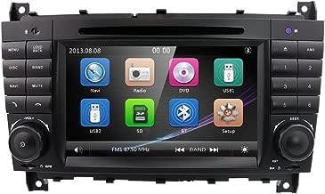 Estéreo de audio doble DIN de 7 pulgadas para Mercedes Benz Clase C W203 CLC Clase CLC W203 CLK Clase W209 reproductor de DVD compatible con GPS Sat Nav, DAB+, BT, RDS Radio, Mirror Link, SWC, OBD2