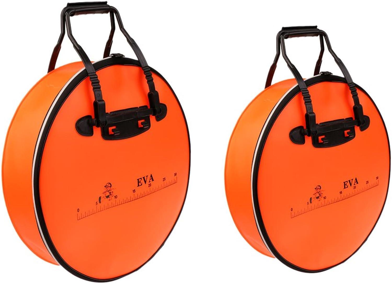 MonkeyJack 2Pcs Waterproof Baits Fish Bag Ecofriendly for Fish Shopping Storage Fishing
