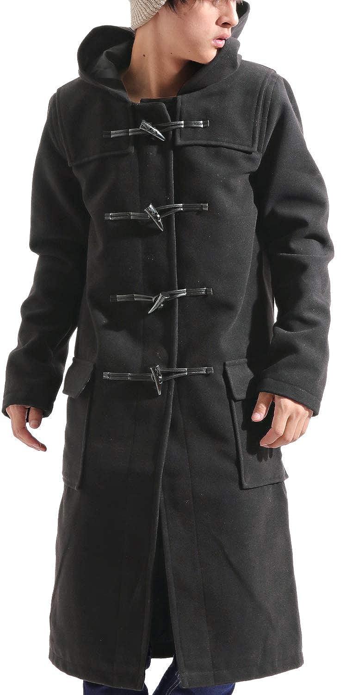 バレッタ メルトン ロング ダッフル コート ウール ビッグ ワイド アウター カジュアル ビジネス メンズ