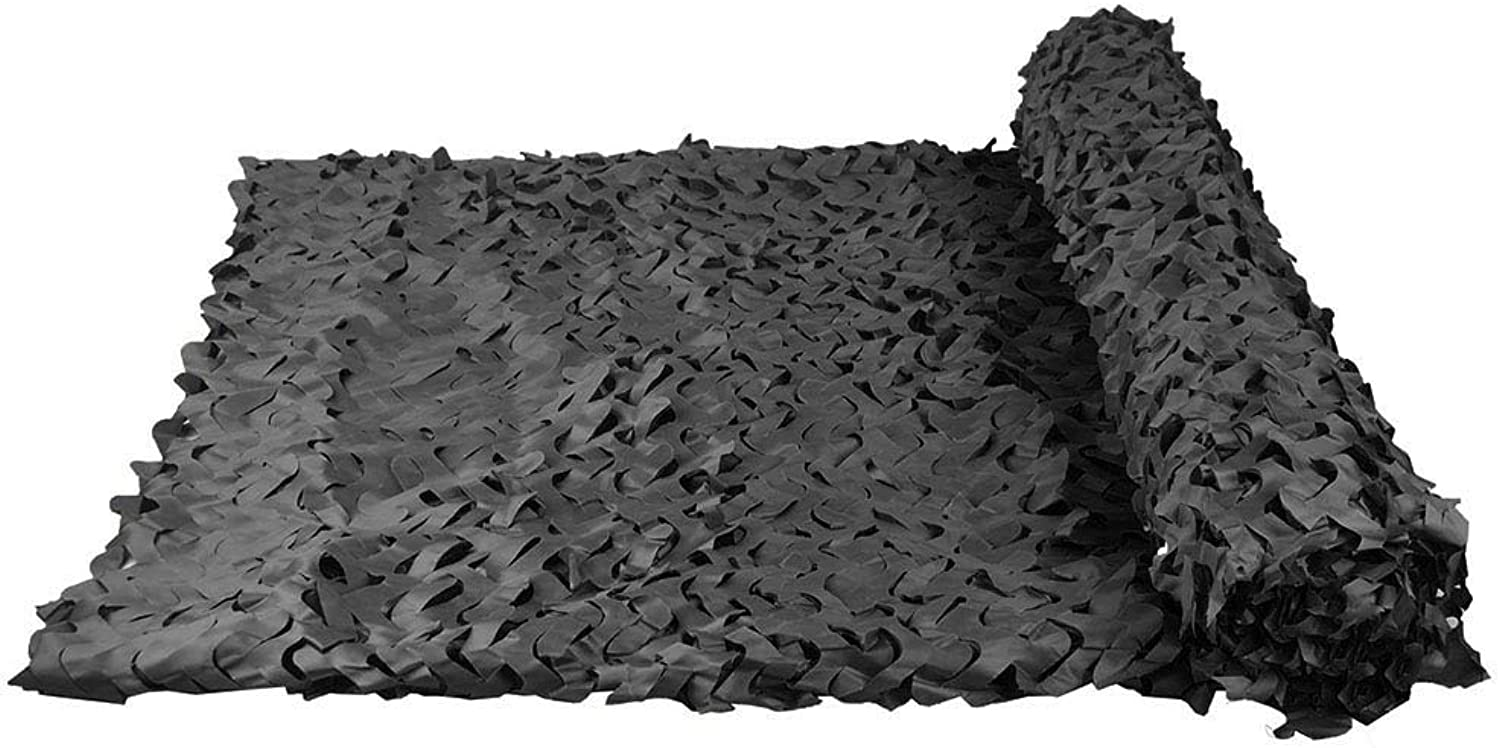 HAIPENG Camouflage Netting Camo Net Blinds Sunshade Awning for Desert Camping Hunting Shooting Sunscreen Nets (color   Black, Size   4x20m)