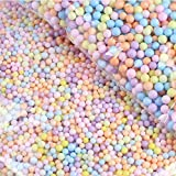 Macaron Rainbow Colored Small Balls, Gift Box Filler Foam Beads, Decorative Beads for Home Festival Deco and Product Display (4-6mm, 50g)