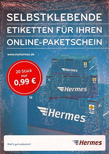 Selbstklebende Etiketten für Ihren Online-Paketschein Hermes Aufkleber 20 Stück