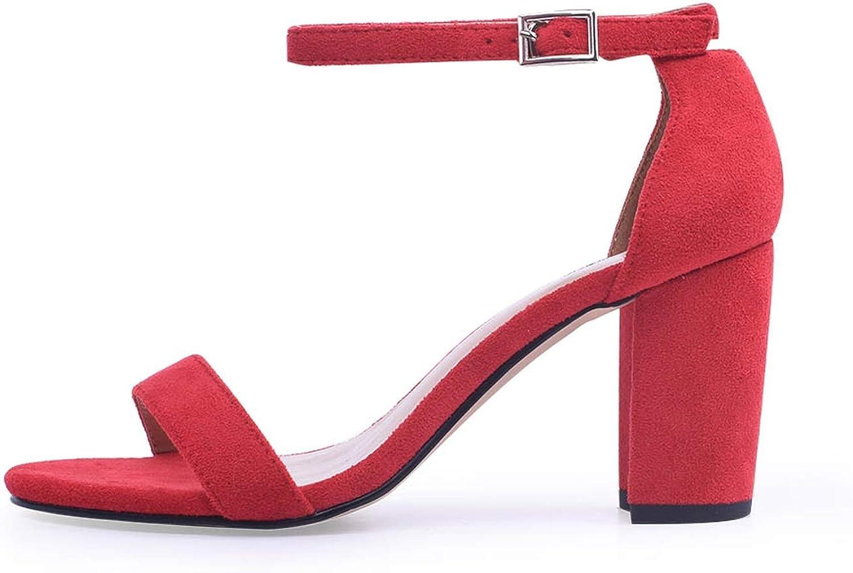 WC-hot Ankle Strap Heels Women Sandals shoes Women Open Toe Chunky High Heels