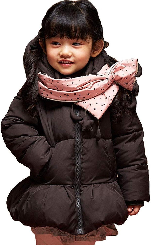 RSTJ-Sjc Kinder Daunenjacke Winter warme weibliche Baby Daunenjacke mit Kapuze langen Abschnitt Kinder Mdchen