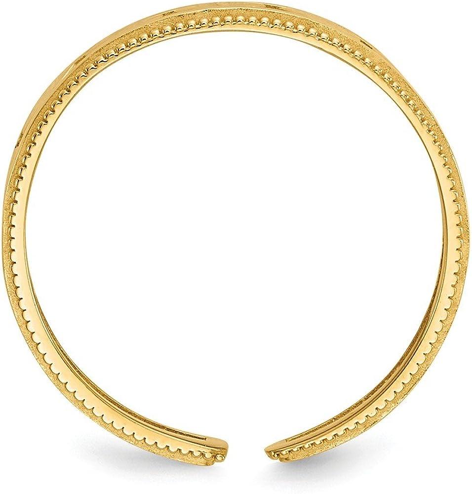14K Yellow Gold Cutout Kite-Shapes Toe Ring