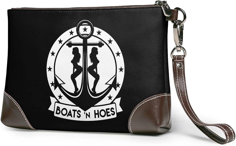 Boats 'N Hoes Fashion Smartphone Wristlet Purse Organizer Purse, Genuine Leather Zip Around Clutch Wallet