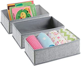 MetroDecor mDesign Soft Fabric Dresser Drawer and Closet Storage Organizer Set for Child/Baby Room Nursery Playroom Bedroo...