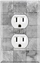 Graphics Wallplates - Slate Tile Ceramic Texture Squar Light Gray Print - Duplex Outlet Wall Plate Cover