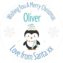 Pink Penguin Girl/'s PERSONALISED Christmas Stickers-Gift Tags//Labels Presents