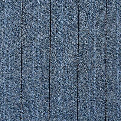 All American Carpet Tiles HARMONY 23.5 x 23.5 Plush Easy To Install Do It Yourself Peel And Stick Carpet Tile Squares – 9 Tiles Per Carton – 34.52 Square Feet Per Carton (Intense Blue)