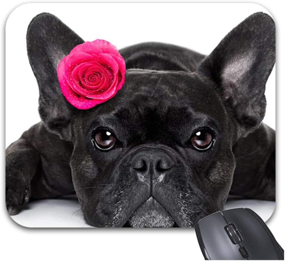 Dogs Roses French Bulldog Mouse Office Pads Outlet SALE Accessories New Shipping Free Shipping Stylish