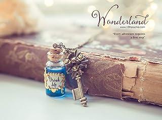 Bevetemi collana di perle, collana di Pozioni magiche regalo per lei, bevetemi collana, gioielli da favola, regalo di fant...