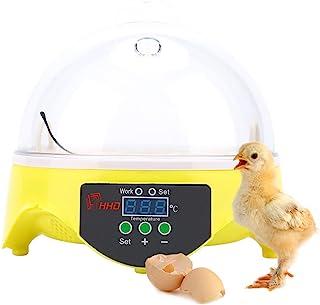 Clacking Broodmachine, eibroodmachine, automatische temperatuurregeling, voor 7 eieren, kippen, eend, wastafel en vogels