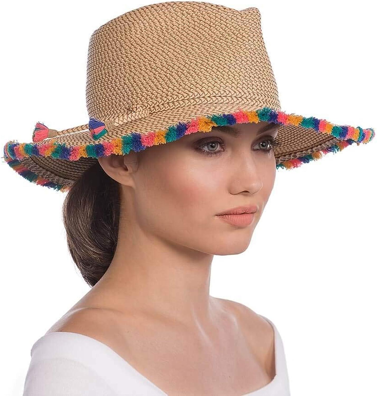 Eric Javits Luxury Fashion Designer Women's Headwear Hat  Frida  Peanut Mix