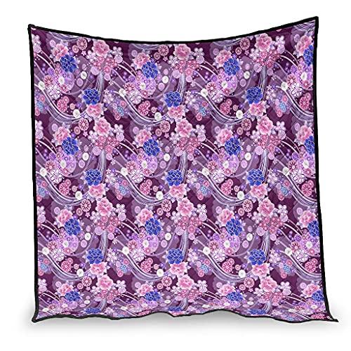 OwlOwlfan Plantas flores anti alergia Lightweigt acogedor verano edredón viaje manta para primavera verano otoño temporada blanco 173x203cm