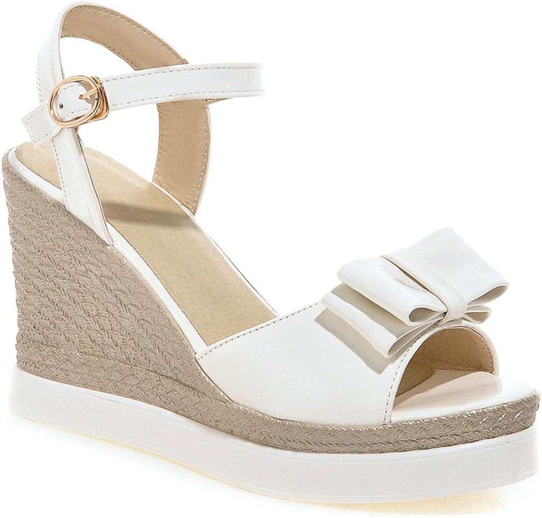 Pink-star New Women Sandals Summer New peep Toe Fashion Platform High Heels Wedge Sandals Female shoes