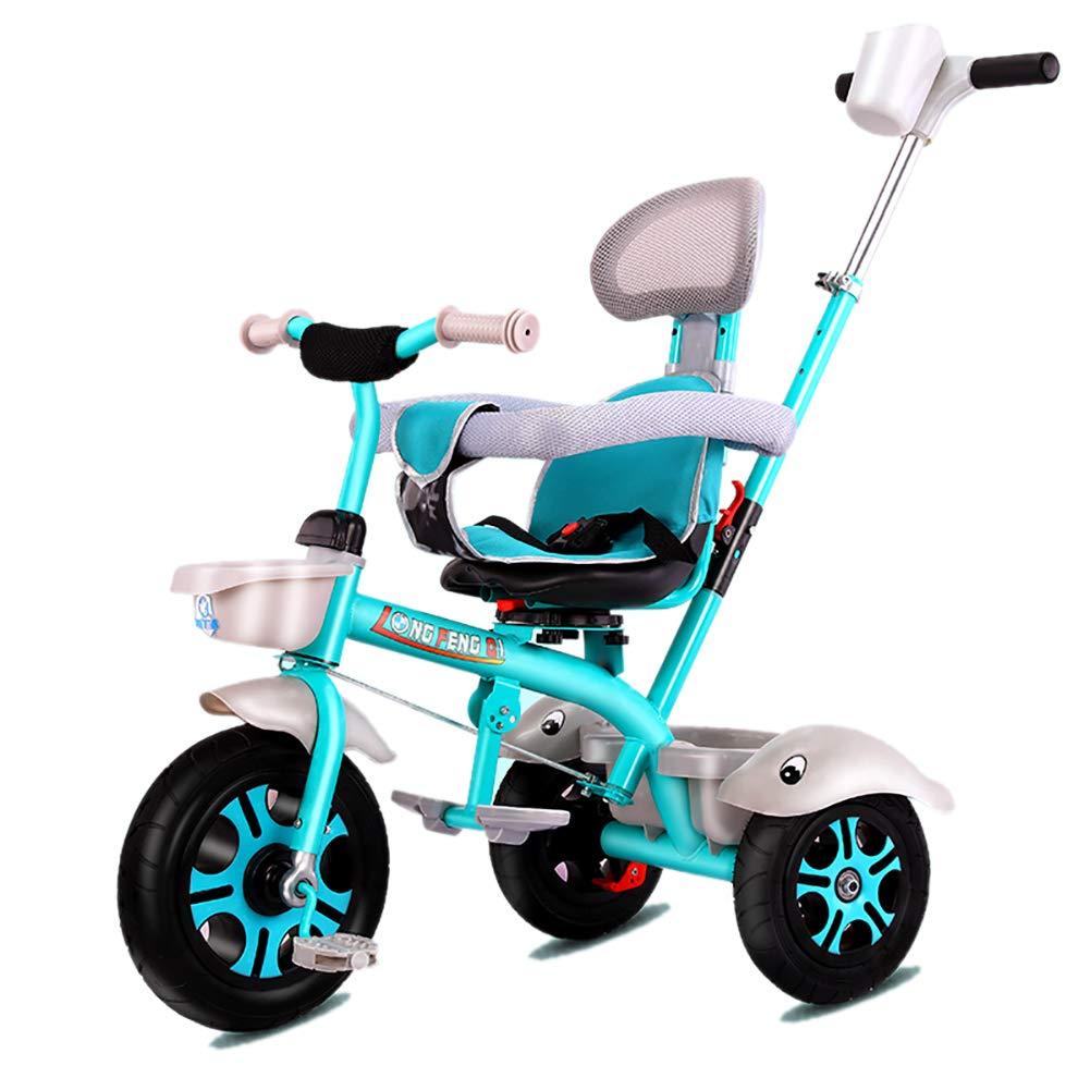 GUO@ Triciclo para NiñOs Triciclo para NiñOs 3 En 1 Triciclo con 3 Ruedas Titanio VacíO