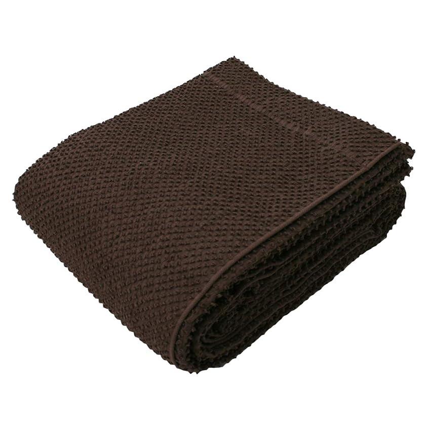 機密マナーずんぐりしたタオルケット シングル ロングサイズ 140×200cm 綿100% (ブラウン)