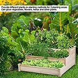 Cocoarm Paletten Hochbeet Palettenrahmen aus Holz Gartenbett für Gemüse Blumen Pflanzer Kräuterbeet für Garten Terrasse und Balkon, 123 x 124,5 x 53 cm - 2