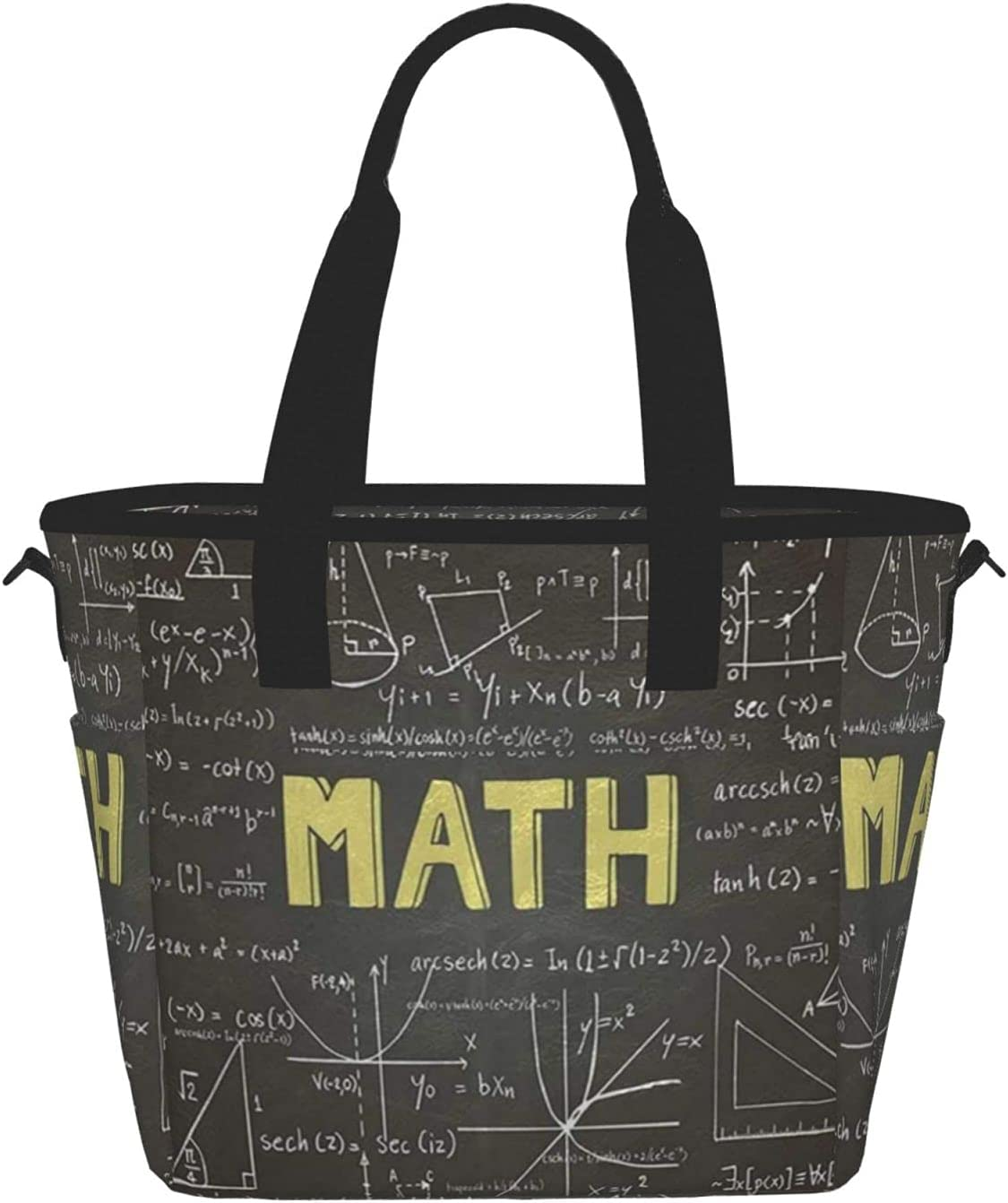 Math Arlington Mall Simple And Cute Prints Storage H Pockets Outdoor Travel For Rapid rise