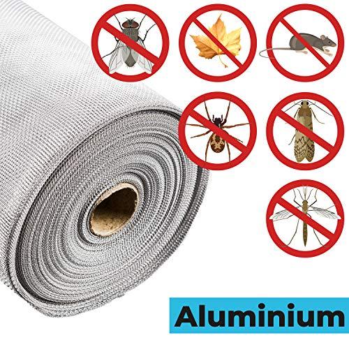 Fliegengitter Aluminium Insektenschutz |Alu-Gitter Aluminiumgewebe gegen Raten,Mäuse,Fliegen STAHLIA®| ALUMINIUM | L x B: 200x120 CM