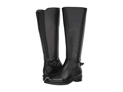 Blondo Evie Wide Shaft Boot Waterproof (Black Leather) Women