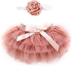 Puseky Baby Girls Ruffle Tutu Vestido de Falda Bragas Trajes de Diadema de Flores Conjunto Fotografía Prop Vestuario