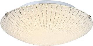 Éclairage plafonnier DEL chrome verre opael luminaire plafond lampe LED 8 watts
