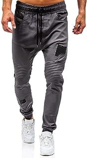 comprar comparacion VPASS Pantalones para Hombre,Cintura Ajustable por Cordón y Bolsillos Pantalones Moda Pop Casuales Chándal de Hombres Jogg...