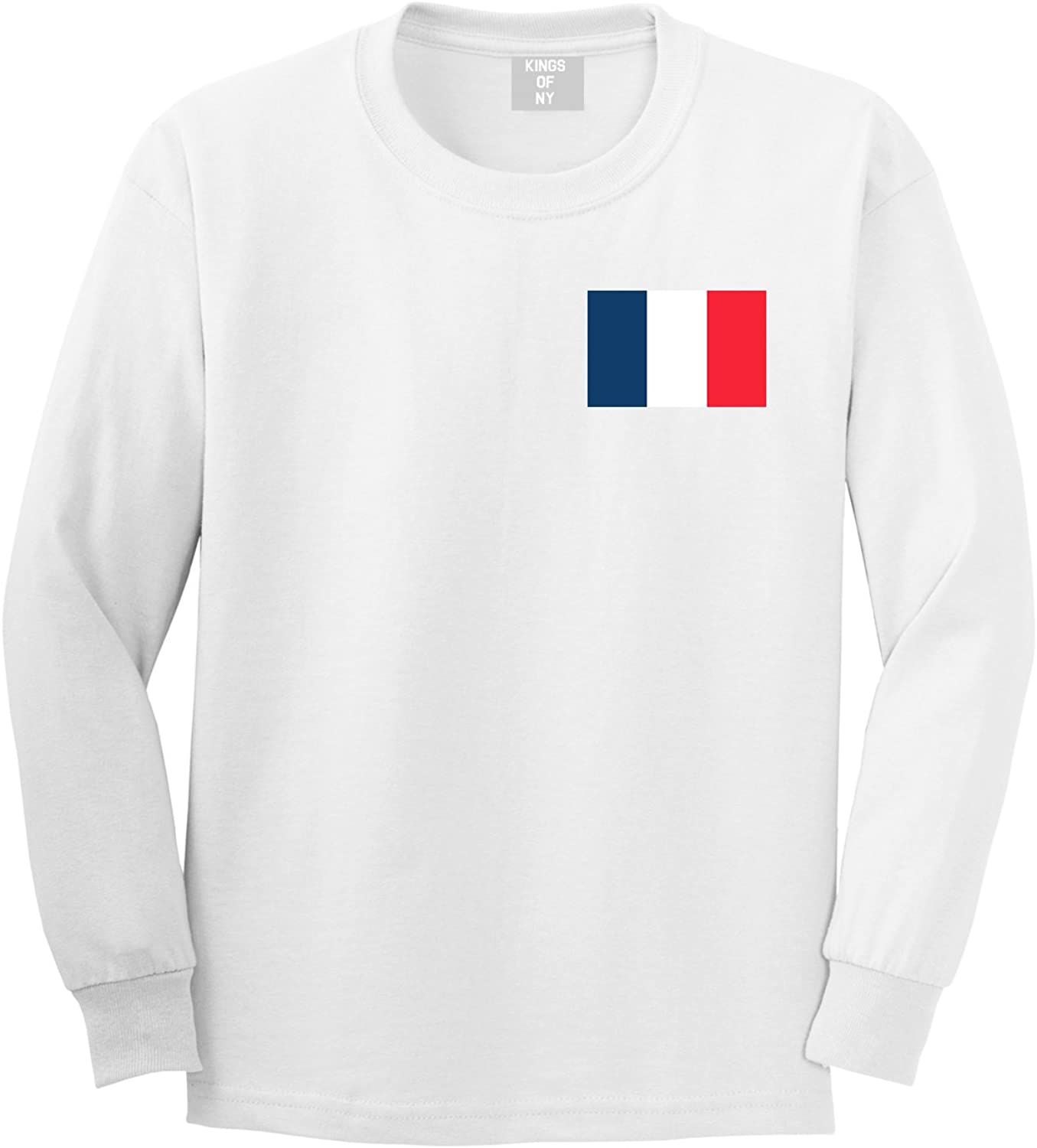 France Flag Country Chest Long Sleeve T-Shirt