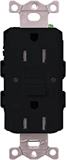 Lutron SCR-15-GFST-MN Claro Satin Colors 15-Amp Self-Testing Receptacle, Midnight