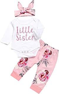 Newborn Baby Clothes Girl Long Sleeve Outfits Romper Outfits Toddler Pants Romper Clothes Set