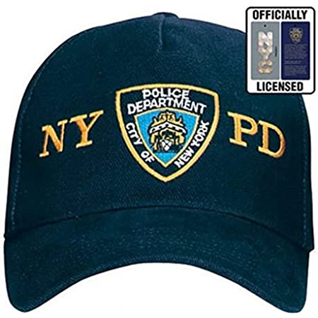 City-Souvenirs Official NYPD Hat/Baseball Cap, Navy Blue Police Department NYPD Cap