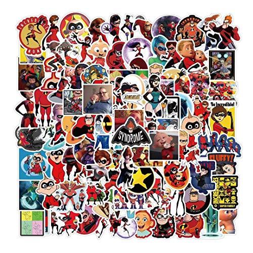 BAIMENG Pegatinas animadas de dibujos animados para nevera, guitarra, taza de agua, decoración impermeable, 50 unidades